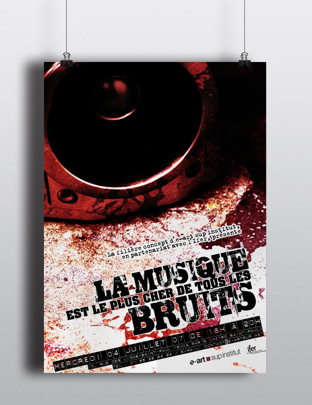 Porfolio da-conceicao.com : affiches : La musique est le plus cher de tous les bruits