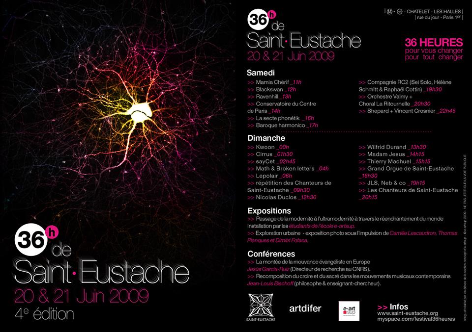 Porfolio da-conceicao.com : flyers festival des 36 heures de Saint-Eustache 2009