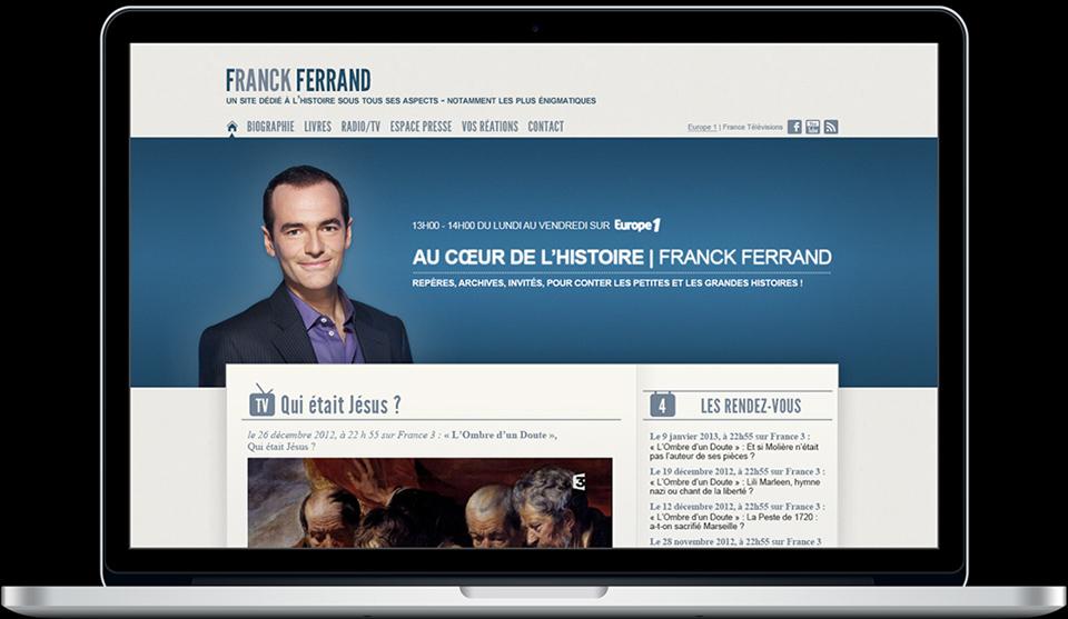 Création du site internet de franck ferrand réalisation da-conceicao.com