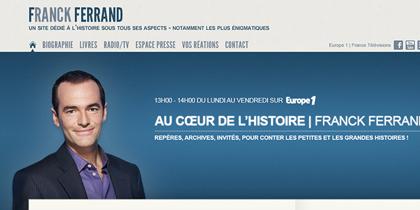 Site internet de Franck Ferrand
