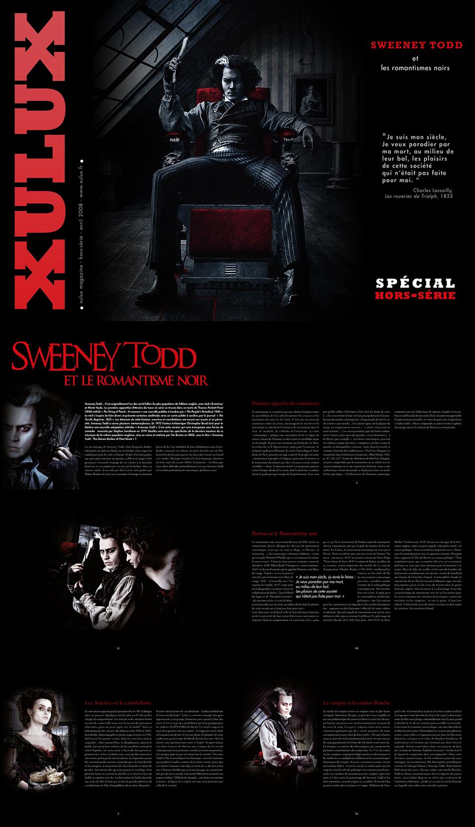 xulux Hors Série Sweeney todd réalisation da-conceicao.com