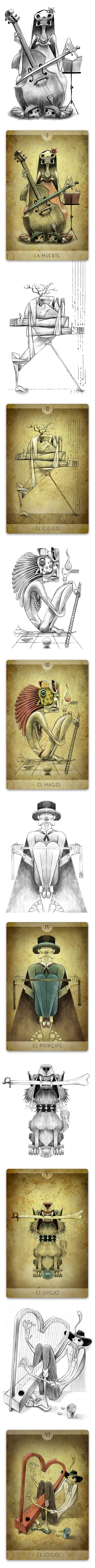 jorge Lewis l'illustrateur du spirituel #2 Tarot Mundano