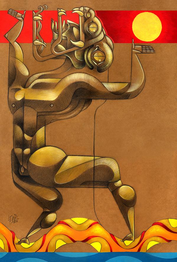 jorge Lewis l'illustrateur du spirituel - Jorges Lewis - La canoa culebra