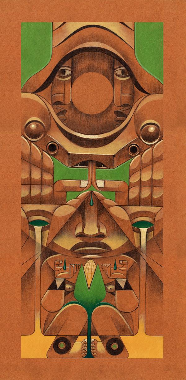 jorge Lewis l'illustrateur du spirituel - Jorges Lewis - Totem de la tierra