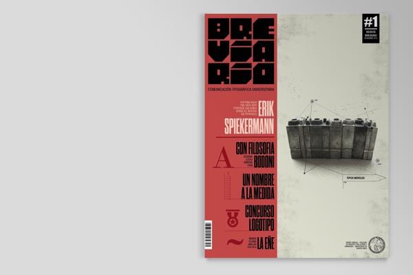 inspirations graphiques typographie, print : Boris Vargas Vasquez | Breviario Magazine - Editorial Design