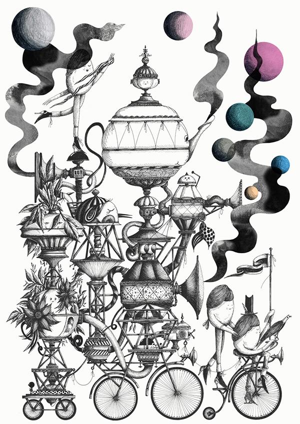 inspiration graphique : illustration Merijn Hos | Bandwagon Print