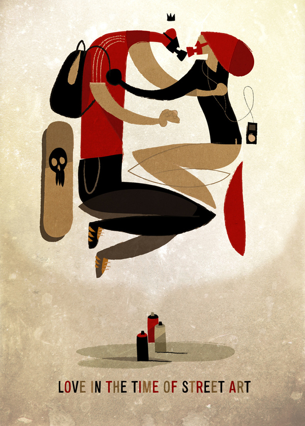"Inspirations graphiques illustration Riccardo Guasco ""Love in the time of street art"""