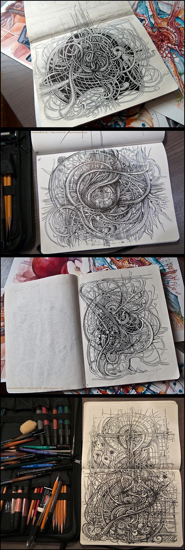Inspirations graphiques dessins : Irina Vinnik | Sketchbook 2013 (vol.4)