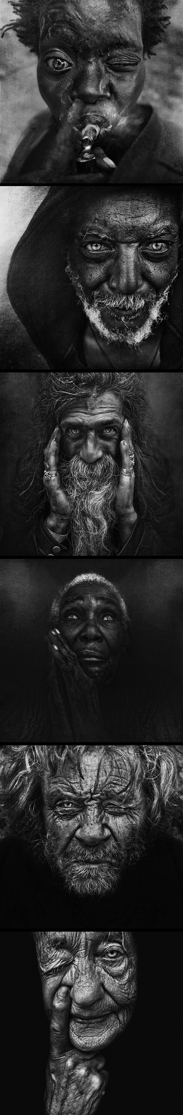 Inspirations graphiques photographie : Lee Jeffries | Homeless