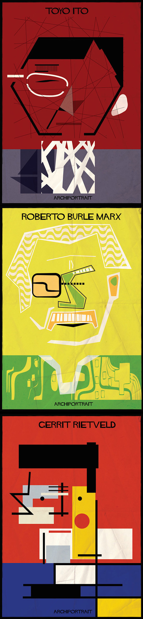 inspirations graphiques graphism : Federico Babina | Archi-Portraits