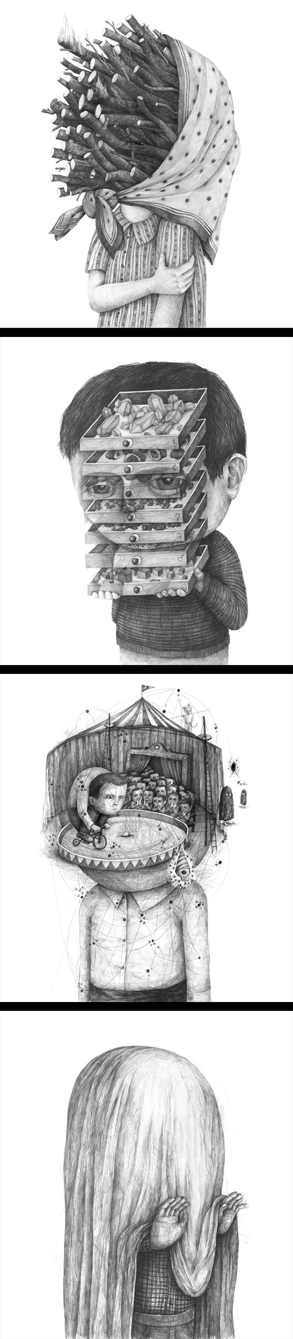 Inspirations graphiques #15 Stefan Zsaitsits | Surrealistic Drawings
