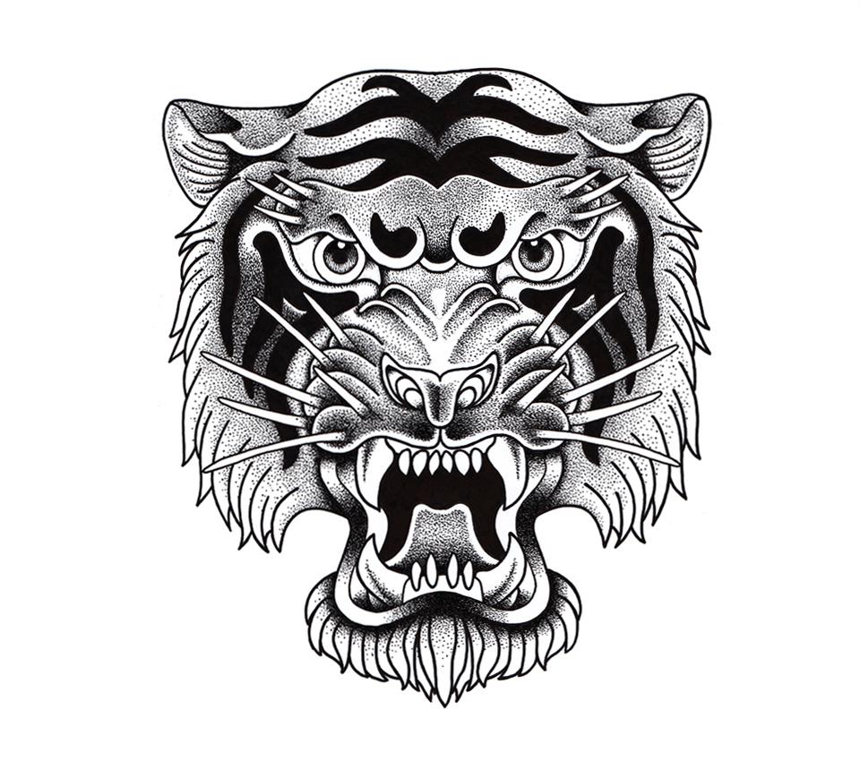 Tigre illustration - réalisation da-conceicao.com