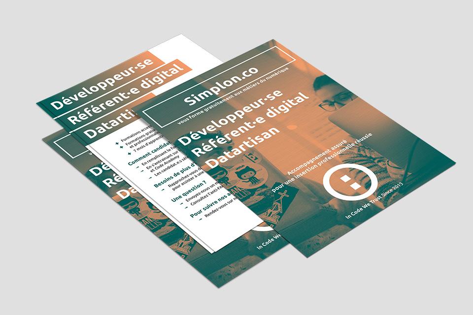 Réalisation de flyers pour Simplon.co - réalisation da-conceicao.com