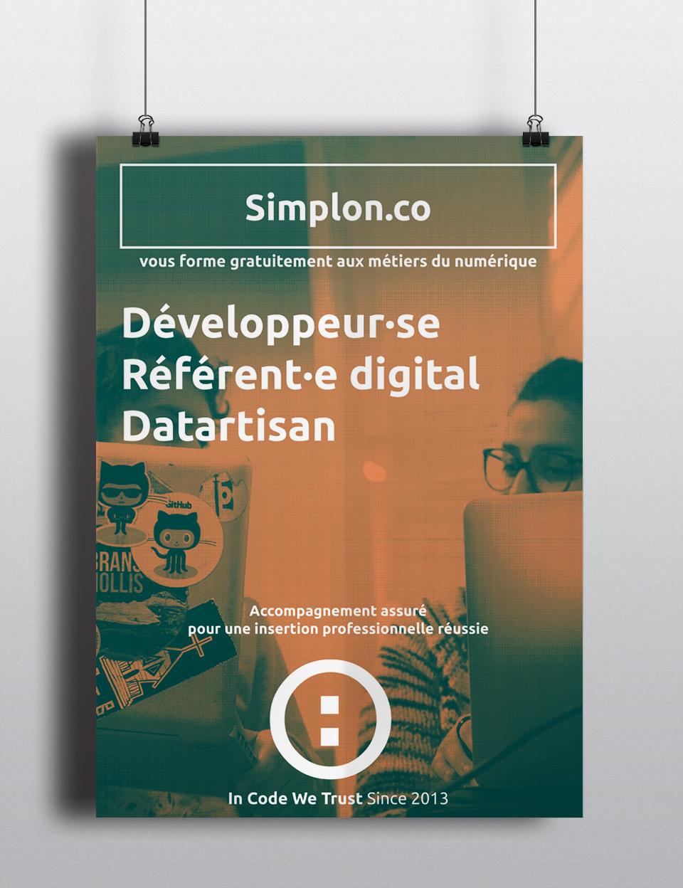 Réalisation de posters pour Simplon.co - réalisation da-conceicao.com