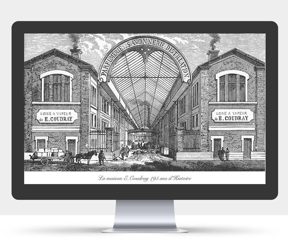 Conception et design graphique du site internet E-Coudray | page la maison e-coudray