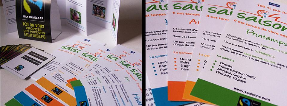 Porfolio da-conceicao.com : communication graphique projet : 4 saisons