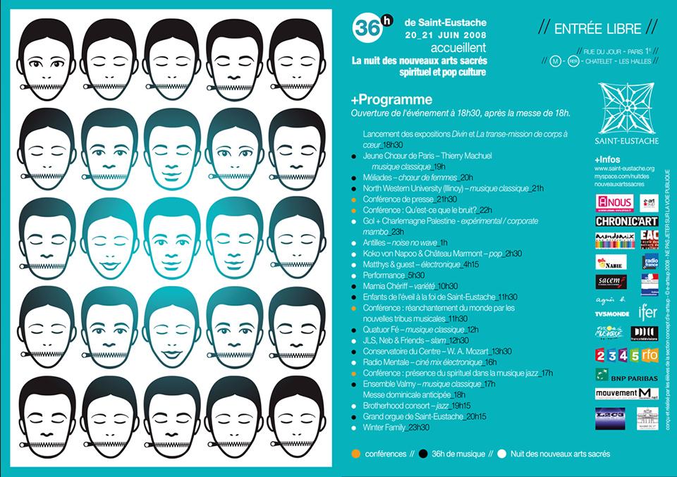 Porfolio da-conceicao.com : événementiels : flyers Saint-Eustache : La nuit des nouveaux arts sacrés