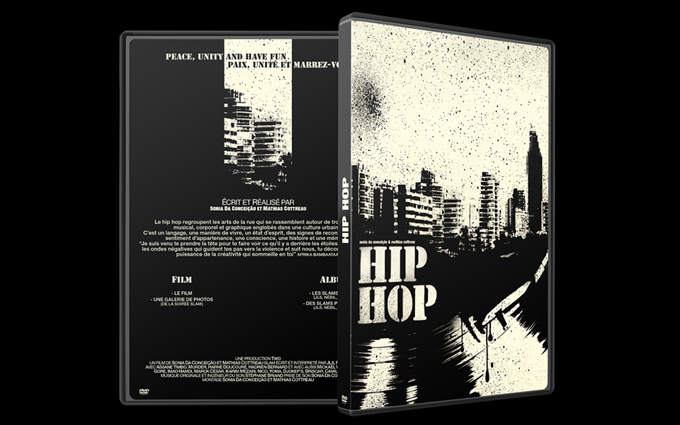 Porfolio da-conceicao.com : pochette dvd Hip-Hop : Peace, Unity and Have fun