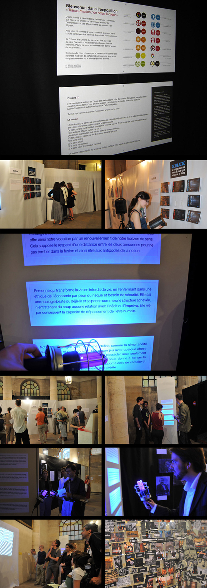 Porfolio da-conceicao.com : événementiels : Saint-Eustache : La nuit des nouveaux arts sacrés. expositions