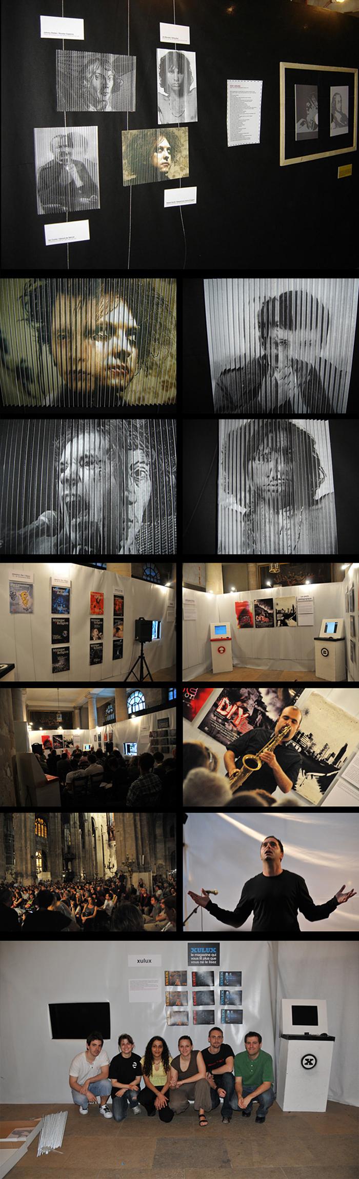 Porfolio da-conceicao.com : événementiels : Saint-Eustache : La nuit des nouveaux arts sacrés. exposition
