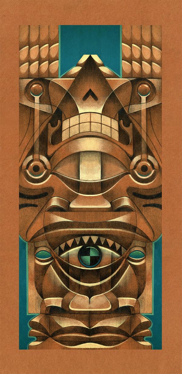 jorge Lewis l'illustrateur du spirituel - Jorges Lewis - Totem del cielo
