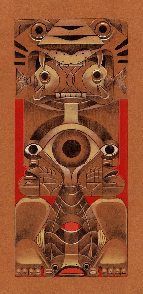 jorge Lewis l'illustrateur du spirituel - Jorges Lewis - Totem del fuego