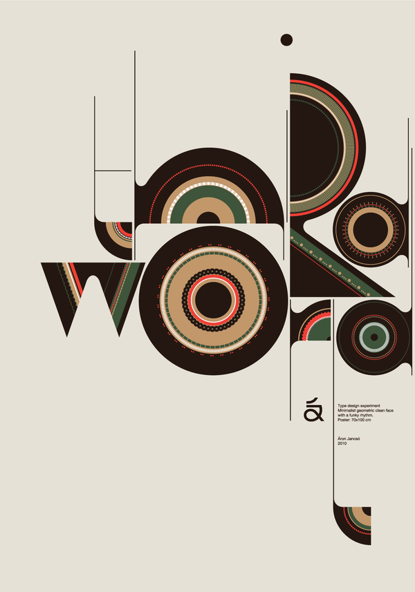 inspirations graphiques Design graphique Áron Jancsó | Qalto Typeface