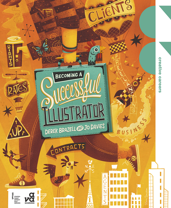 Steve Simpson | 'Becoming a Successful Illustrator' book jacket