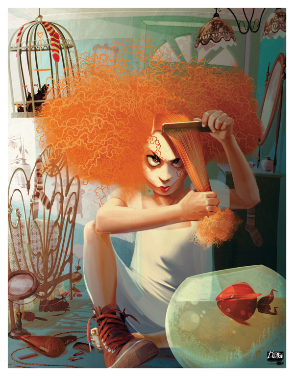 inspiration graphique : Illustration Francesca D'Ottavi | Hair