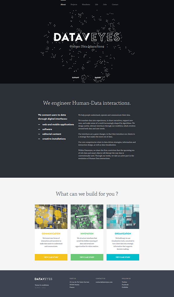 inspirations graphiques webdesign Dataveyes