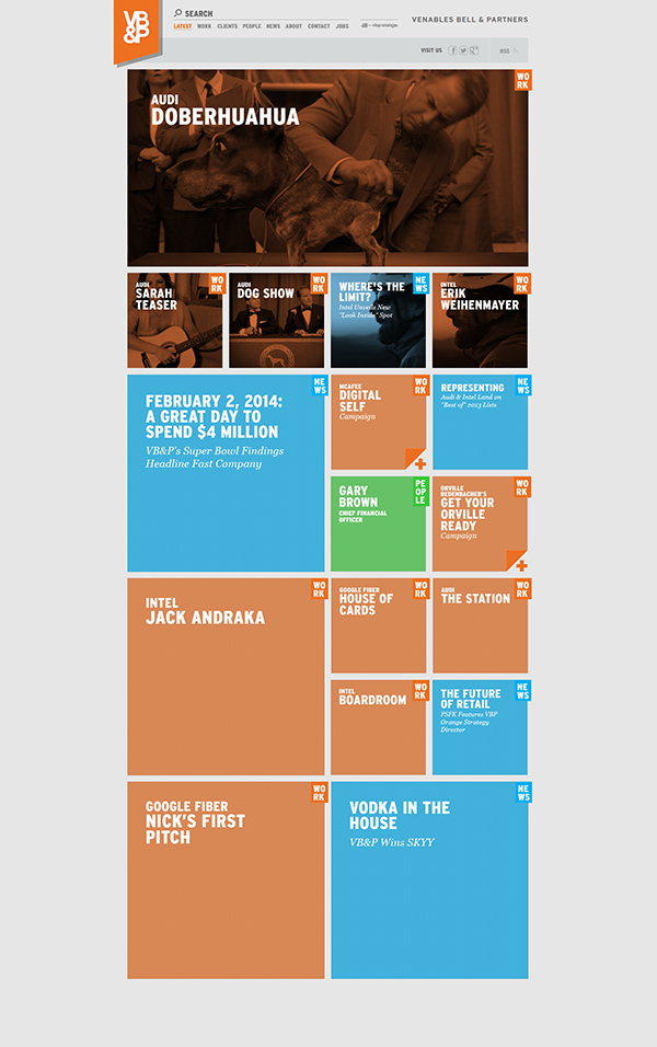 inspirations graphiques webdesign Venables Bell & Partners