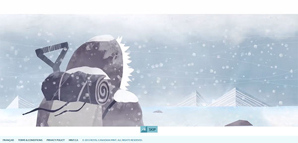 inspirations graphiques webdesign : Heart of the Arctic - Royal Canadian Mint
