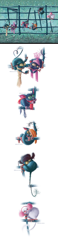 Inspirations graphiques illustrations : Alla Bobyleva | PostCard