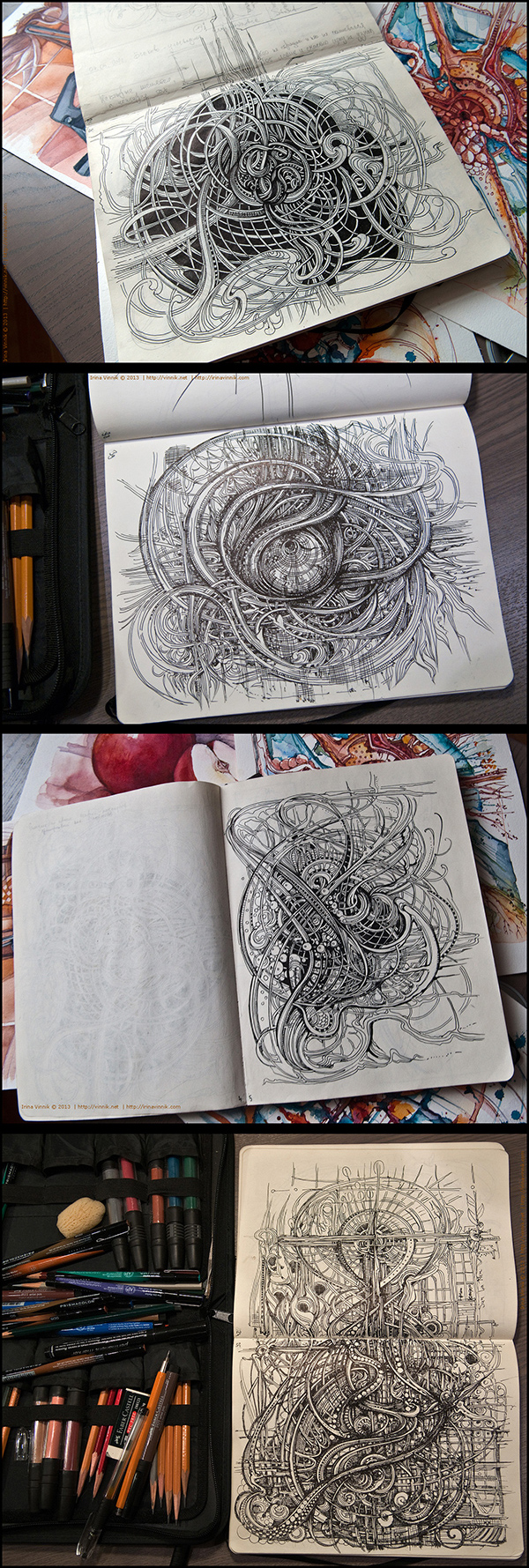 Inspirations graphiques dessins : Irina Vinnik | Sketchbook 2013 (vol.4)