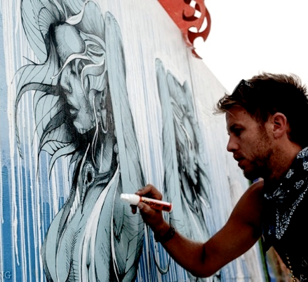 Hans Walor live painting : Live Painting