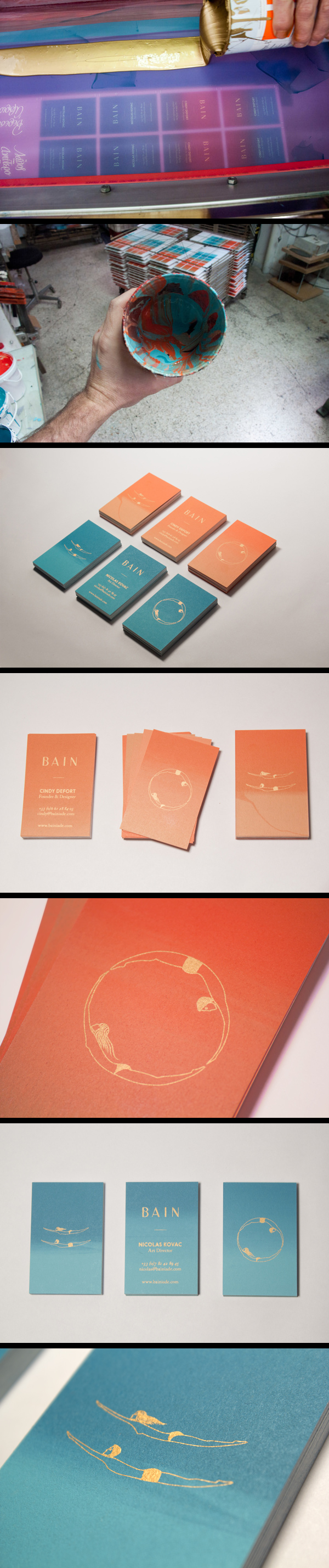 Nicola Kovac, Cindy Defort, tind | BAIN Silk Printed Business Cards