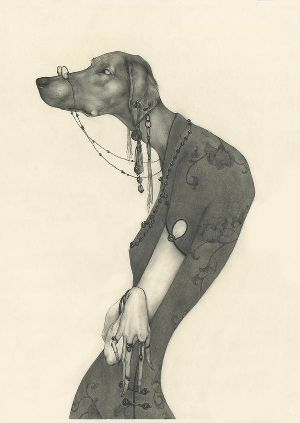 illustrations Lu Ke : les signes du zodiaque chinois ( chien)