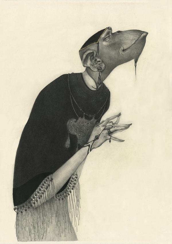 illustrations Lu Ke : les signes du zodiaque chinois (singe)