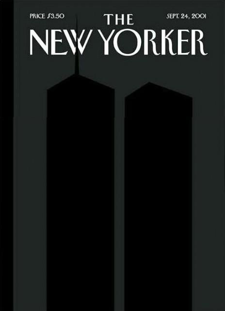 les tours jumelles de Spiegelman  Une du 24 septembre 2001, après l'attentat du World Trade Center