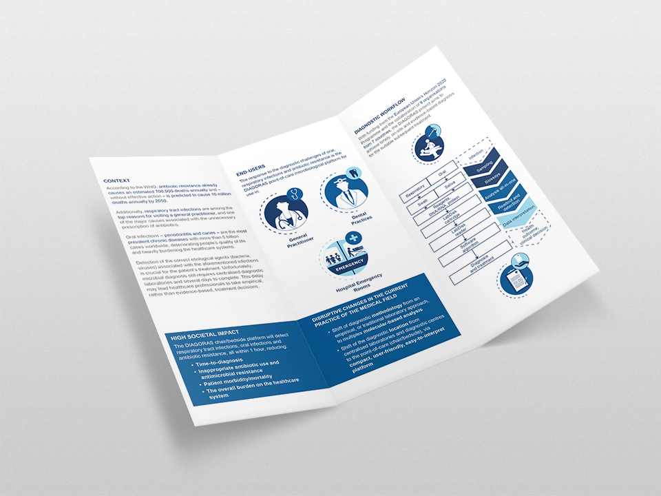 Conception et design graphique d'affiche et de flyer pour le projet européen Diogoras