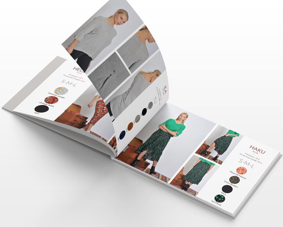 Conception et réalisation du catalogue (Workbook) Printemps - Été 2019 pour Rue Mazarine