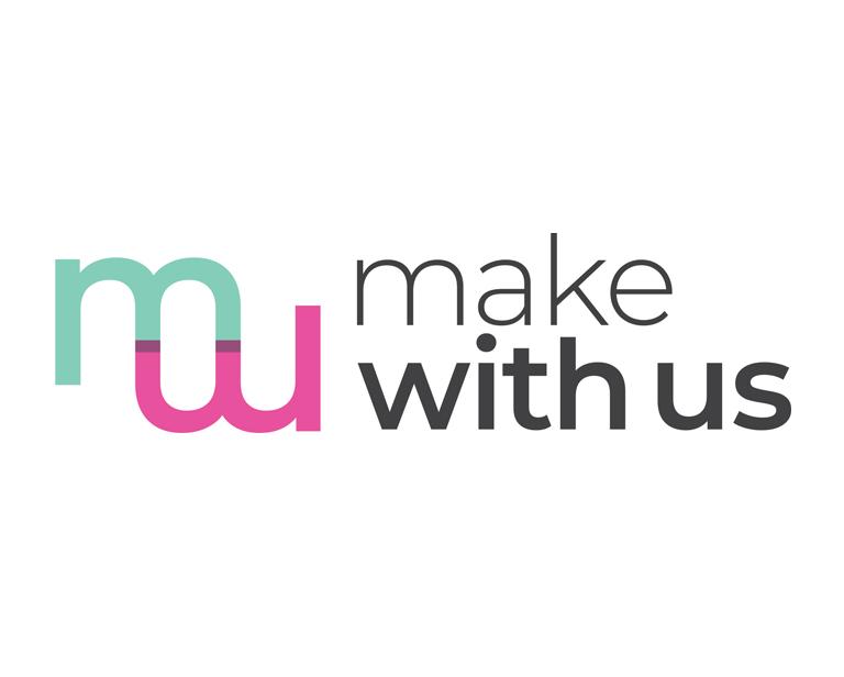 créations graphiques pour l'association Make With Us - logotype